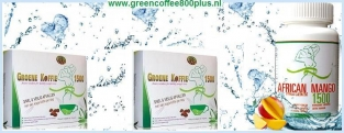 2 x Green Coffee 1500 en 1 x African Mango